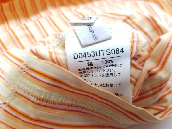 Papas(パパス) 半袖Tシャツ サイズ48M メンズ イエロー×オレンジ ボーダー