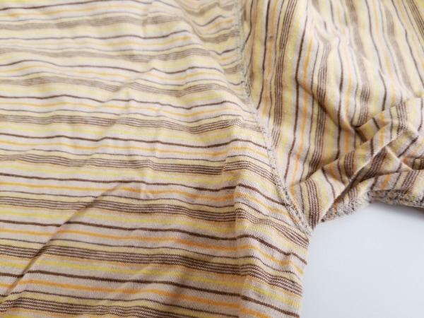 Papas(パパス) 半袖Tシャツ サイズ48M メンズ オレンジ×マルチ ボーダー