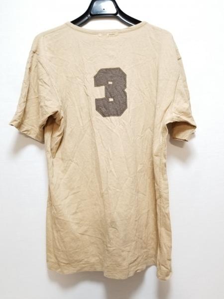 Papas(パパス) 半袖Tシャツ サイズ48M メンズ ライトブラウン×ダークブラウン