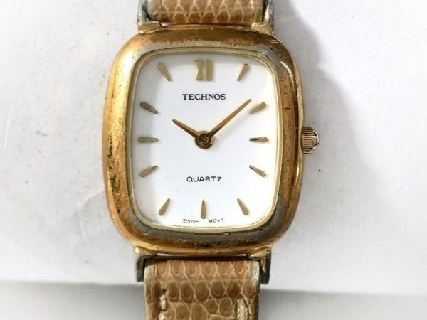 TECHNOS(テクノス) 腕時計 - レディース 革ベルト 白