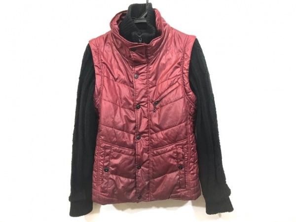 ハイダウェイニコル コート サイズ48 XL レディース レッド×黒 冬物