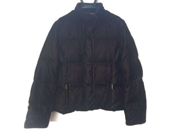 アクアスキュータム ダウンジャケット サイズ7F L レディース美品  ダークブラウン