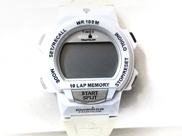 TIMEX(タイメックス) 腕時計 IRONMAN CR2016 レディース ラバーベルト ライトグレー