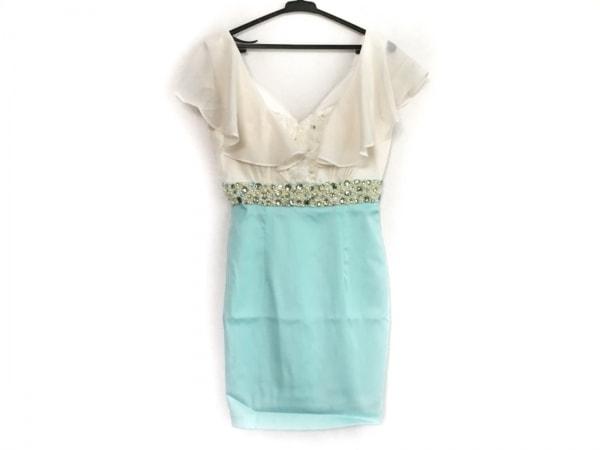ローブドフルール ドレス サイズS レディース美品  アイボリー×ライトグリーン