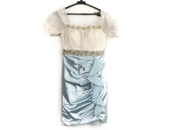 ローブドフルール ドレス サイズS レディース美品  アイボリー×ライトブルー