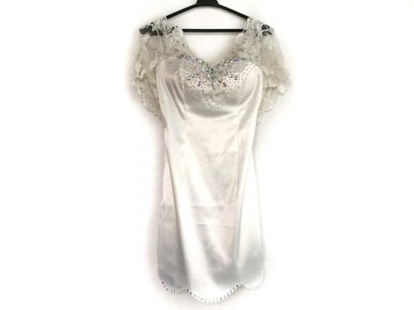 an(アン) ドレス サイズS レディース 白 レース/フェイクパール/ビーズ/ビジュー