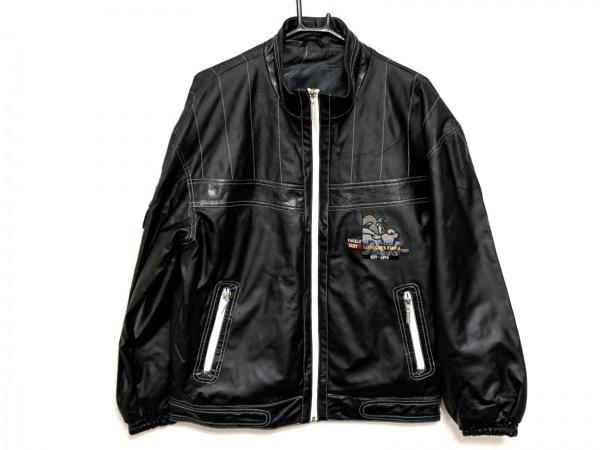 PAGELO(パジェロ) ブルゾン サイズM メンズ 黒×白×マルチ ジップアップ/春・秋物