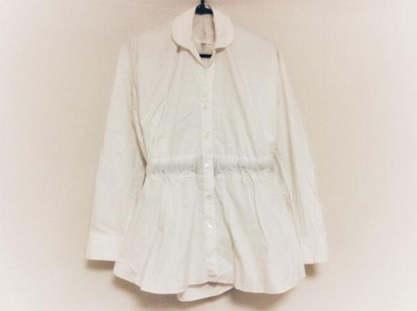 sakayori(サカヨリ) 長袖シャツブラウス サイズ36 S レディース 白×黒 リボン