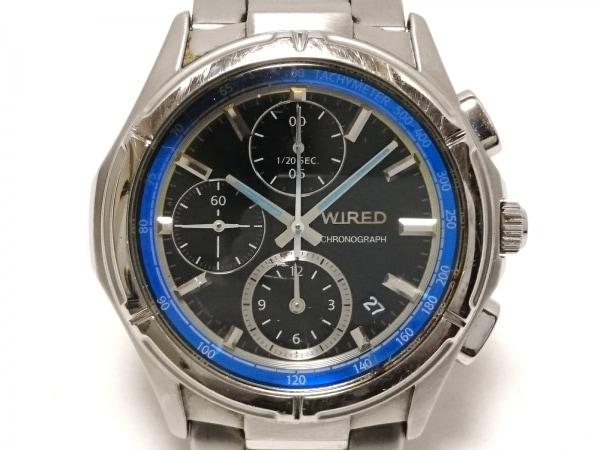 WIRED(ワイアード) 腕時計 7T92-0ML0 メンズ クロノグラフ 黒