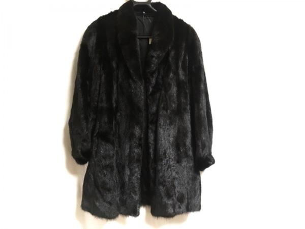 SAGA MINK(サガミンク) コート サイズ13 L レディース美品  黒 冬物 ミンク