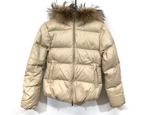デュベティカ ダウンジャケット サイズ40 M レディース美品  Adhara ベージュ 冬物