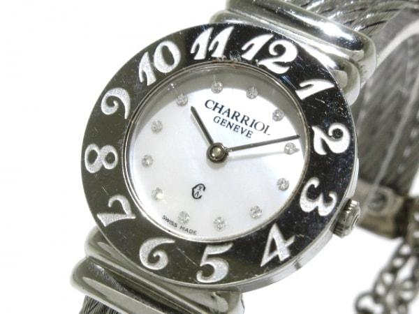 CHARRIOL(シャリオール) 腕時計 サントロペ 028A レディース シェルホワイト