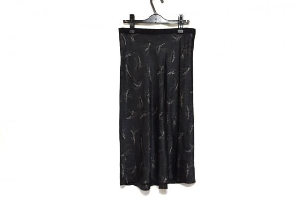 ヴィンス ロングスカート サイズS レディース美品  黒×ベージュ×ダークブラウン