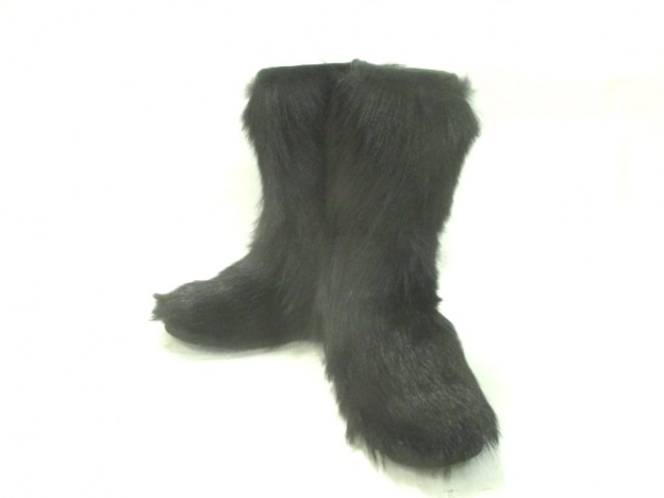 mou(モウ) ブーツ 確認出来ず レディース 黒 ファー