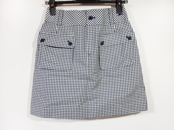 バーバリーゴルフ ミニスカート サイズ7 S レディース新品同様  黒×白 チェック柄
