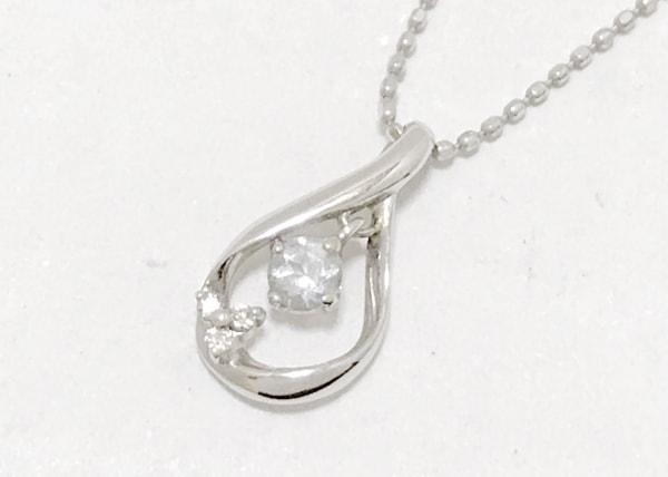 組曲 KUMIKYOKU(クミキョク) ネックレス美品  K10×ダイヤモンド 0.01カラット