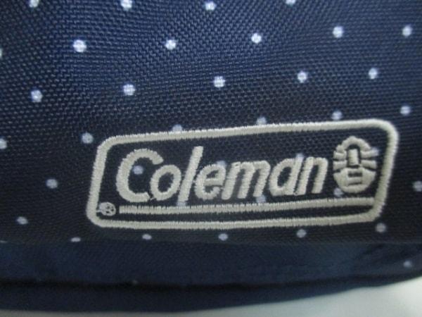 Coleman(コールマン) ショルダーバッグ ネイビー×白 ドット柄 ナイロン