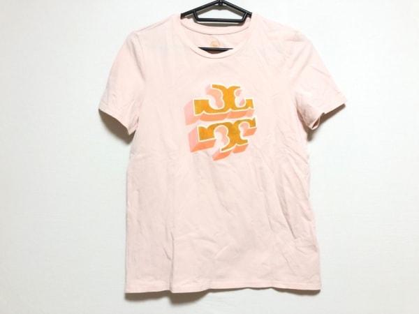 トリーバーチ 半袖Tシャツ サイズS レディース ピンク×ライトブラウン×オレンジ