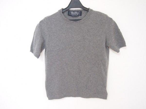 マックスマーラウィークエンド 半袖セーター サイズS レディース美品  グレー