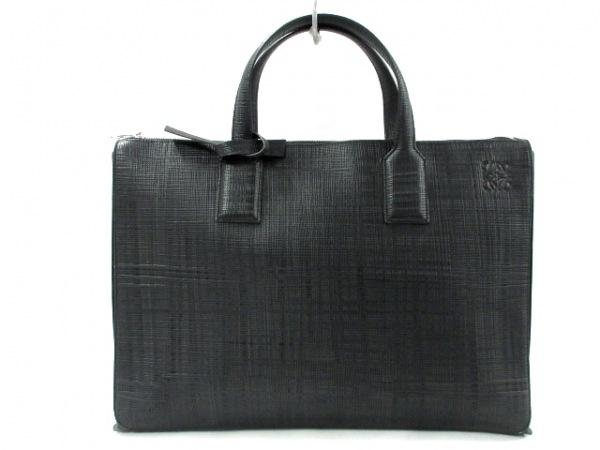 LOEWE(ロエベ) ビジネスバッグ新品同様  - 黒 レザー