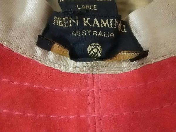 HELEN KAMINSKI(ヘレンカミンスキー) ハット large美品  レッド スエード