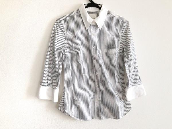 バンドオブアウトサイダーズ 七分袖シャツブラウス サイズ0 XS レディース 白×黒