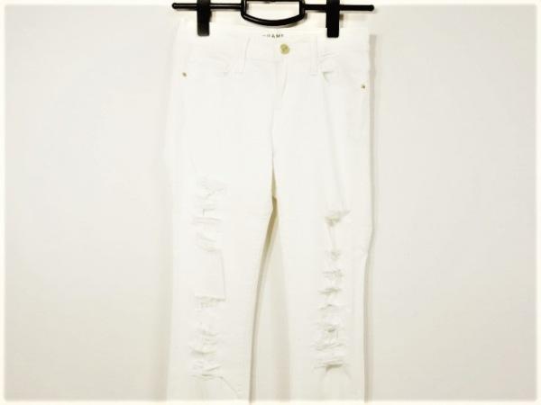 フレーム デニム パンツ サイズ25 XS レディース アイボリー スキニー/ダメージ加工