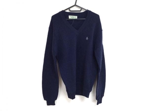Munsingwear(マンシングウェア) 長袖セーター サイズM メンズ ネイビー Vネック
