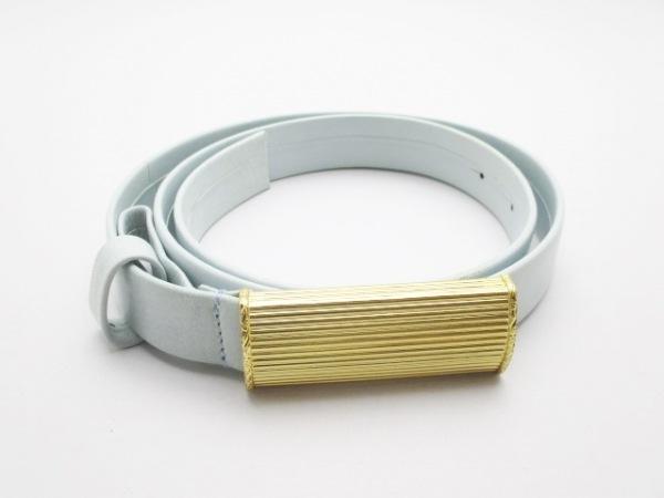 GIANFRANCO FERRE(ジャンフランコフェレ) ベルト 40美品  ライトブルー レザー