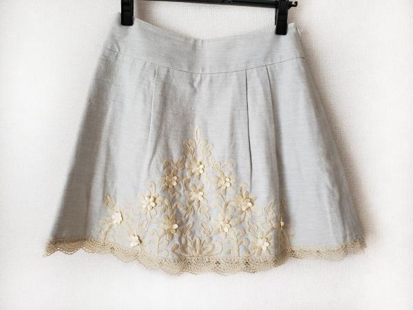 Chesty(チェスティ) スカート サイズ0 XS レディース ライトグレー×ベージュ