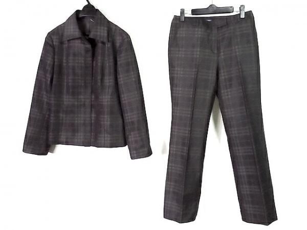 バーバリーロンドン レディースパンツスーツ レディース美品  黒×ダークブラウン
