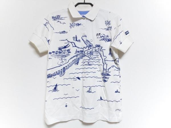 マスターバニーエディション 半袖ポロシャツ サイズ1 S レディース 白×ネイビー