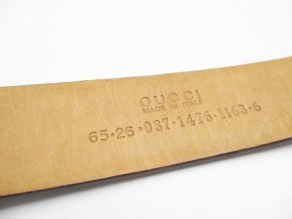 GUCCI(グッチ) ベルト 65/26 ダークブラウン レザー×金属素材