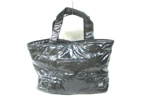 PORTER GIRL(ポーターガール) トートバッグ美品  黒 PVC(塩化ビニール)