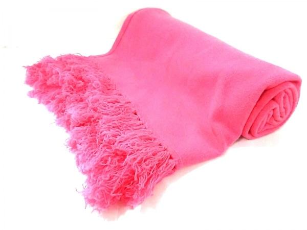 FRUIT CAKE(フルーツケイク) ストール(ショール)美品  ピンク カシミヤ