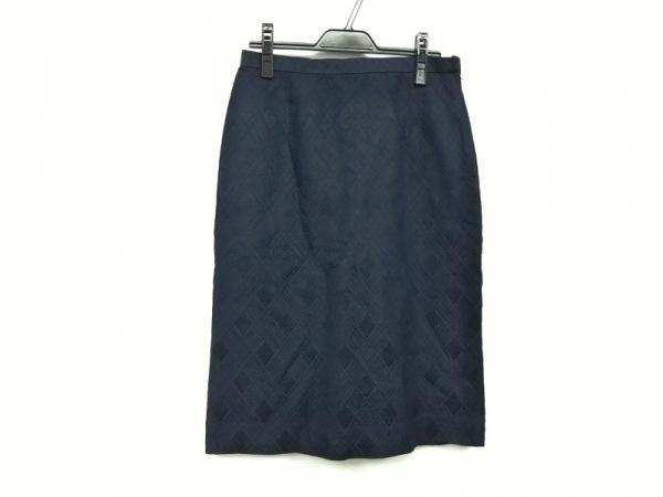 Leilian(レリアン) スカート サイズ13 L レディース ネイビー チェック柄