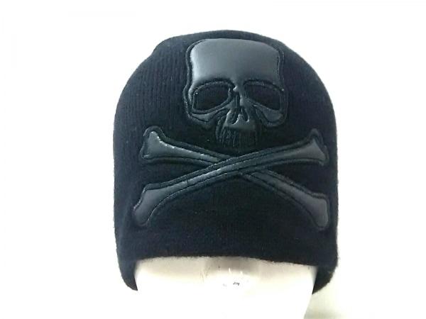 Roen(ロエン) ニット帽 黒 スカル ウール
