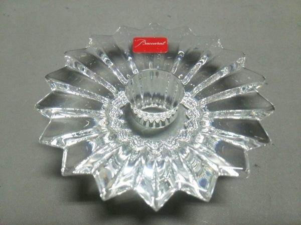 Baccarat(バカラ) 小物新品同様  クリア CANDLESTICK2/2 クリスタルガラス
