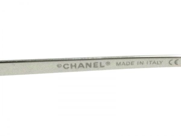 CHANEL(シャネル) サングラス 4017-D クリア×シルバー ココマーク/ラインストーン