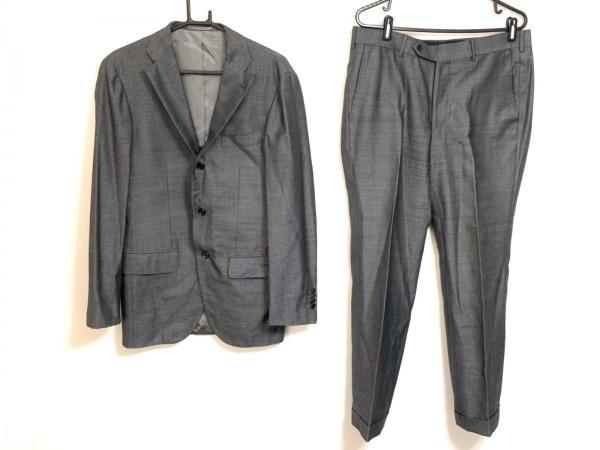 BRILLA(ブリラ) シングルスーツ サイズ48 XL メンズ ダークグレー 肩パッド