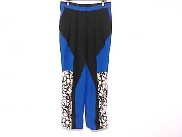 ピーターピロット パンツ サイズ10 L レディース美品  黒×ブルー×マルチ
