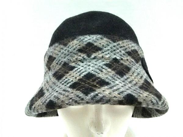 ヴィヴィアンウエストウッドアクセサリーズ 帽子 S~M美品  黒×グレー ウール