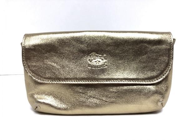 IL BISONTE(イルビゾンテ) 財布 ゴールド レザー