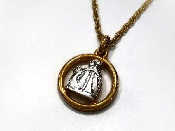 LANVIN(ランバン) ネックレス美品  金属素材 ゴールド×シルバー