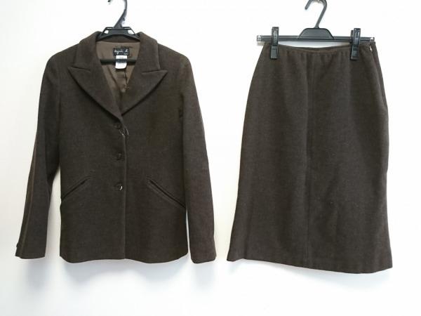 agnes b(アニエスベー) スカートスーツ サイズ38 M レディース ダークブラウン