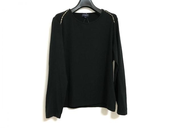 バーバリーゴルフ 長袖Tシャツ サイズL レディース美品  黒×ベージュ×マルチ