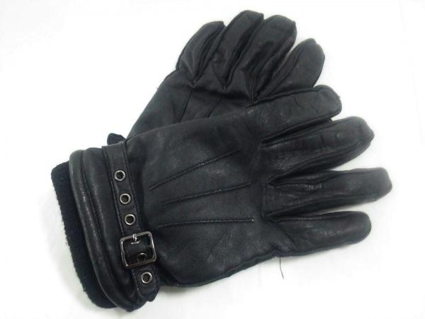 PPFM/PEYTONPLACEFORMEN(ピーピーエフエム) 手袋 メンズ 黒 レザー