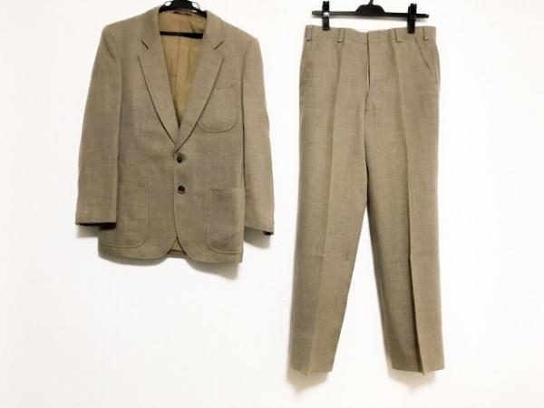 DURBAN(ダーバン) シングルスーツ サイズ52 メンズ ベージュ ネーム刺繍