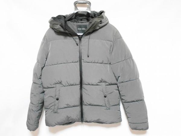 ニコアンド ダウンジャケット サイズ3 L レディース美品  グレー ジップアップ/冬物