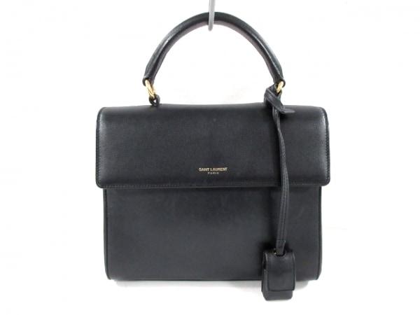 サンローランパリ ハンドバッグ美品  サックムジーク 355157 黒 レザー